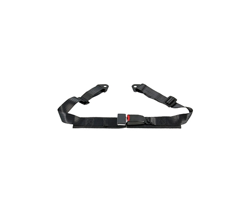 Corbeau 2 Point Lap Seat Belt Black Bolt-In (Set of 2) 42001B