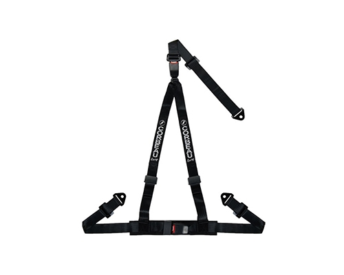 Corbeau Double Release Harness Belt Black 3 Point Snap-In 43201S