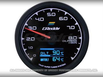 Greddy Multi D/A Gauge Set (Oil Pressure Dial)