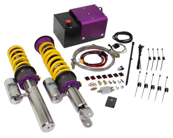KW Variant 3 V3 Coilovers withHLS 2 Front Lift System Porsche 997 Turbo Cabrio 08-09