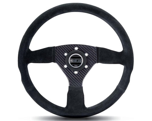Sparco 385 Suede Universal Racing Carbon Fiber Steering Wheel