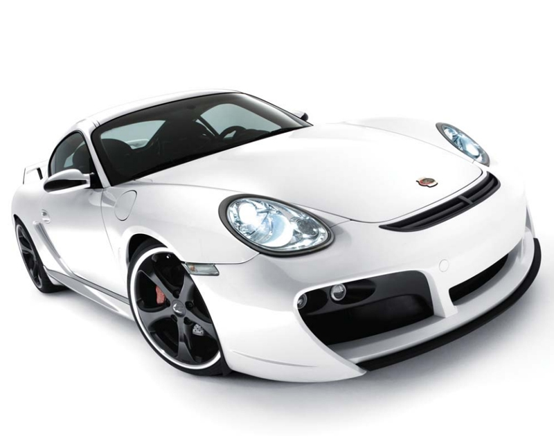 TechArt Front Spoiler Type 2 GTS with Chrome Running Lights Porsche Boxster 987.2 with OE DRL 09-12
